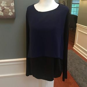 Elie Tahari | mixed media top